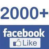 Atteint 2000 Likes sur notre page Facebook