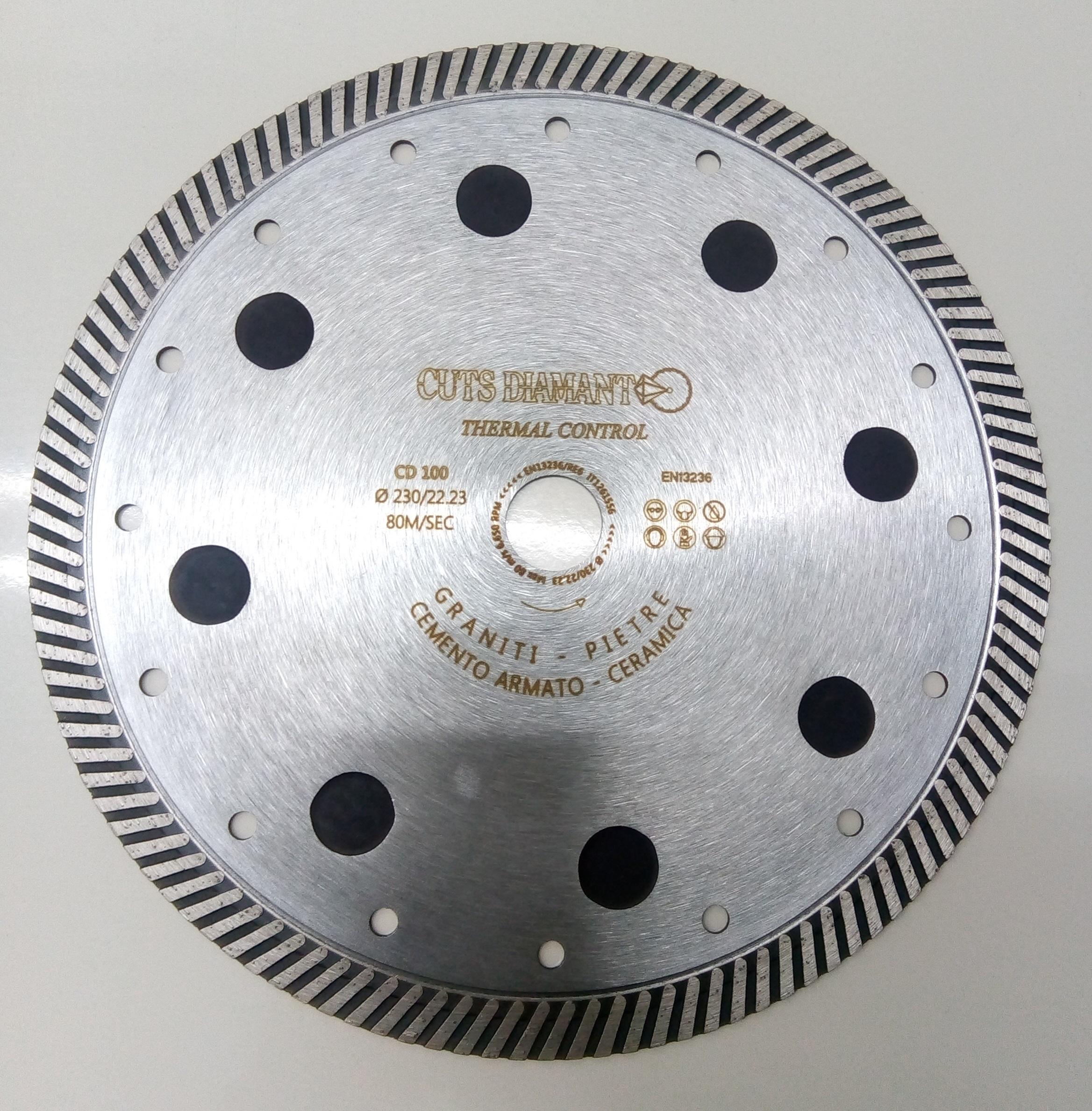 Disque diamant avec capteurs thermiques
